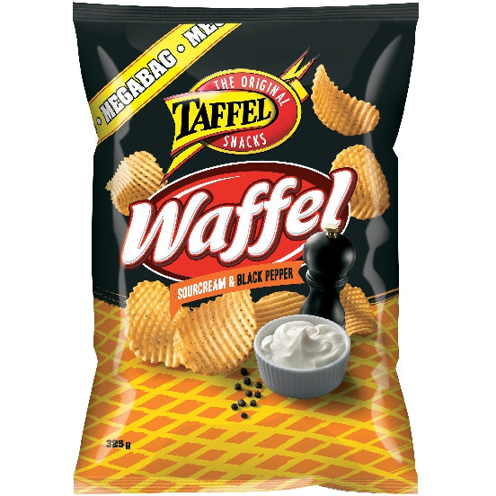 Taffel Waffel Sour Cream & Black Pepper (325g)