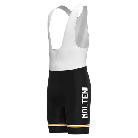 MOLTENI BLACK Retro Bib Shorts