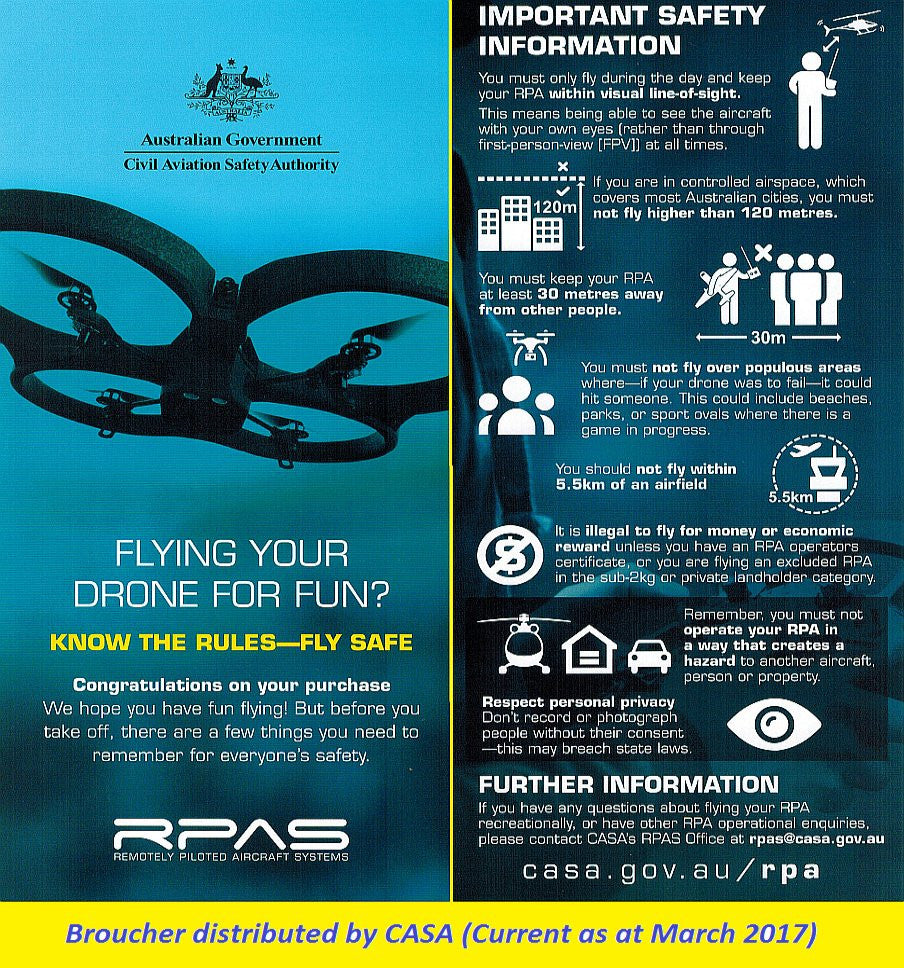 Drones safety casa operating guidelines australia