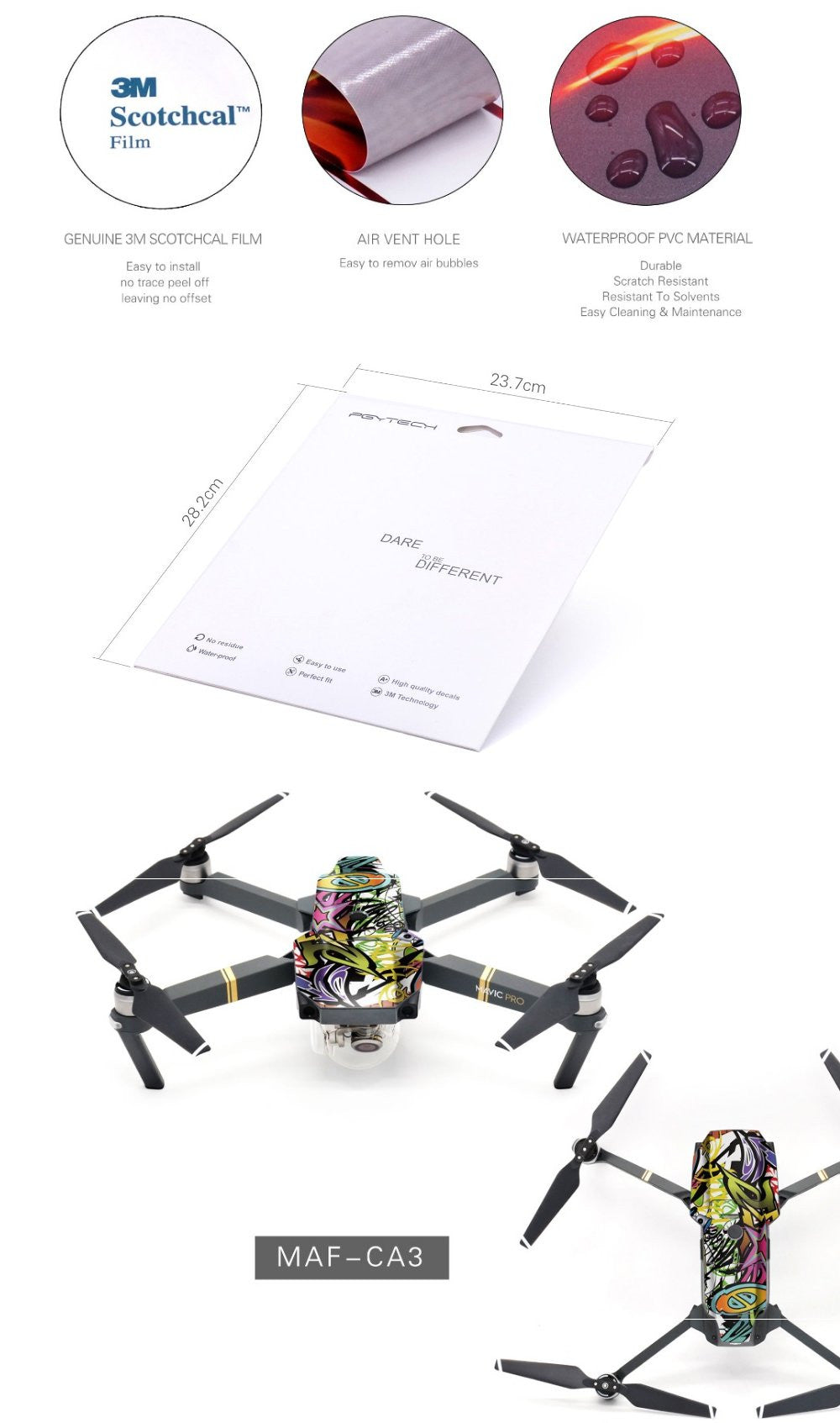 DJI Mavic Pro Sticker Decal Accessory Australia 3M