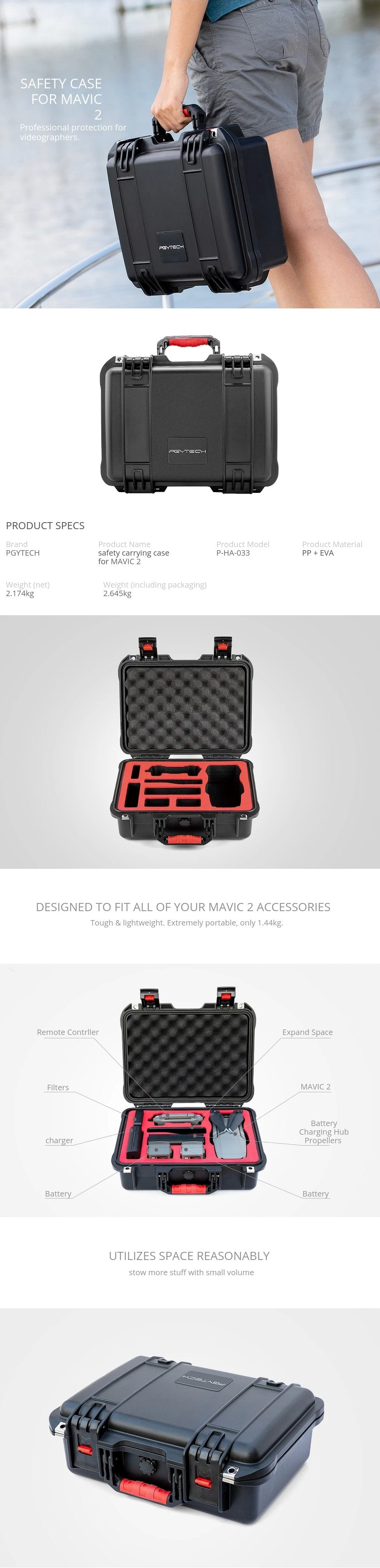 PGYTECH Safety HardCase for Mavic 2 Pro Zoom Australia