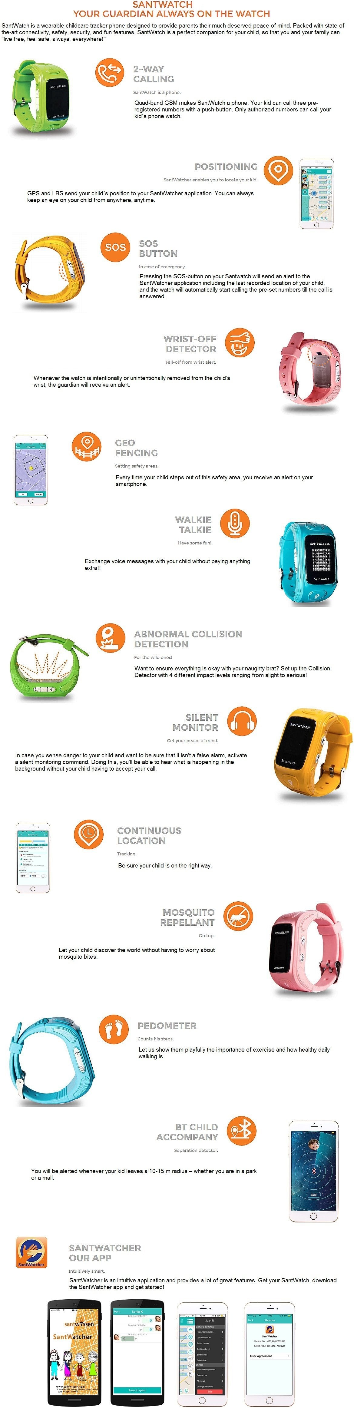 kids tracking watch bluetooth gps functionality