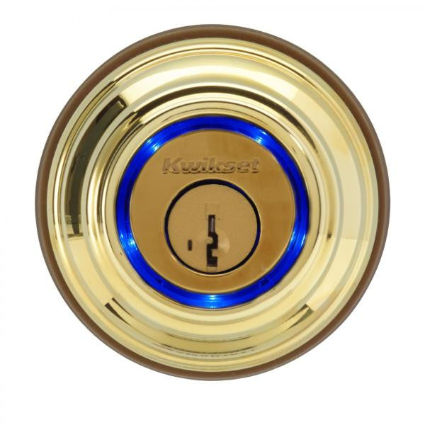 Kwikset Kevo Deadbolt Wireless Enabled Lock Polished Brass