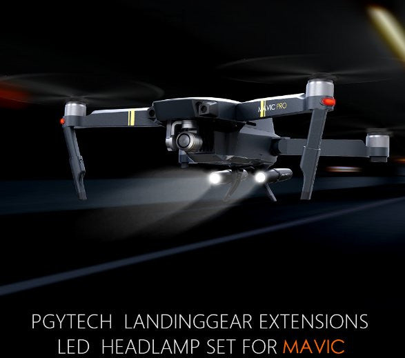 Personal Satellite Tracker >> PGYTECH Mavic Pro Landing Gear Leg Extension with LED Headlamp – indusTec