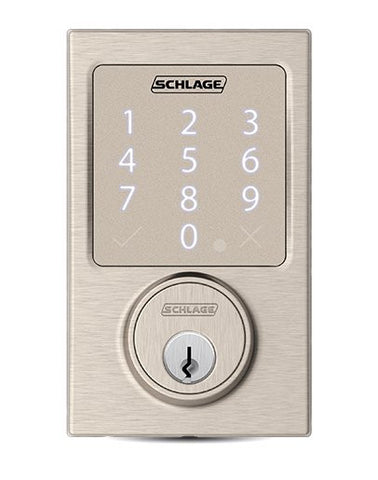 Schlage Sense Smart Deadbolt with Century Trim Silver