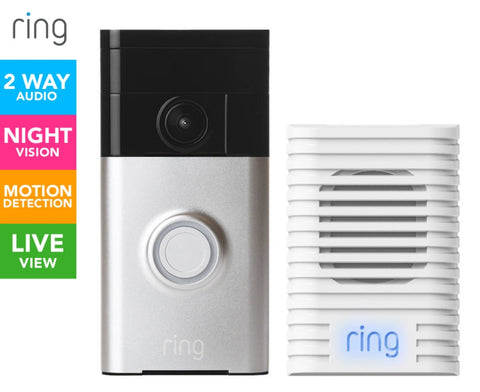 Ring Video Doorbell & Chime Bundle