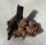 Aegerine & Smoky Quartz - Crystals - Gemstones - Magical Earth Bug