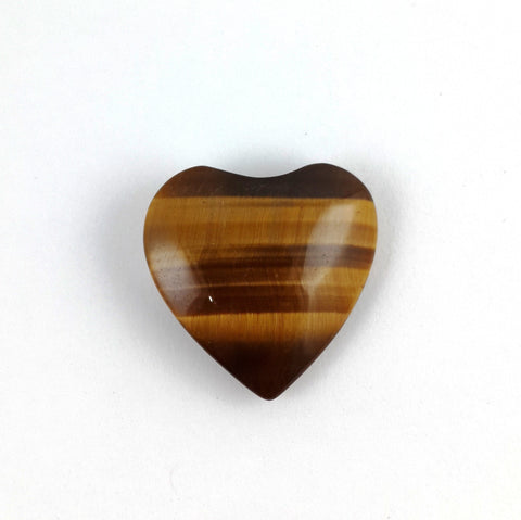 Small Tiger Eye Polished Heart - Crystals - Gemstones - Magical Earth Bug