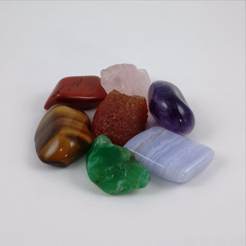 Chakra Kit with Black Pouch - Crystals - Gemstones - Magical Earth Bug