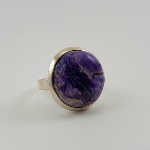 Rare Charoite Ring - Crystals - Gemstones - Magical Earth Bug