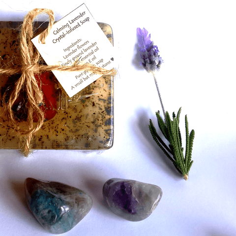 Calming Lavender Crystal Infused Soap - Crystals - Gemstones - Magical Earth Bug