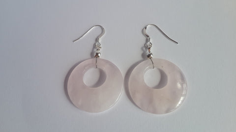 Rose Quartz Earrings - Crystals - Gemstones - Magical Earth Bug