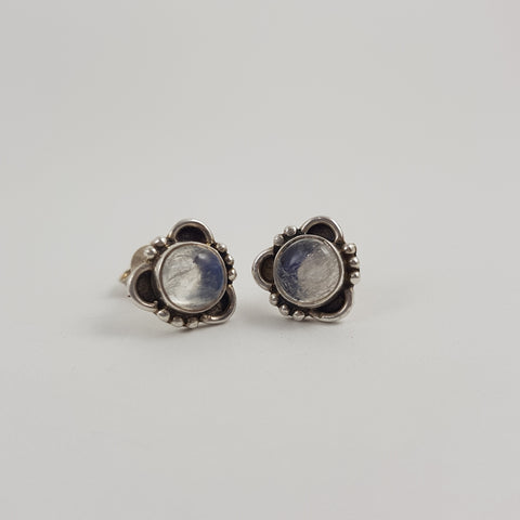 Moonstone Stud Earrings - Crystals - Gemstones - Magical Earth Bug