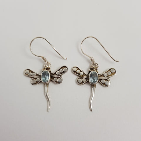 Aquamarine Earrings - Crystals - Gemstones - Magical Earth Bug