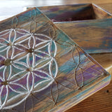 Flower of Life & Labradorite Stone Box - Crystals - Gemstones - Magical Earth Bug