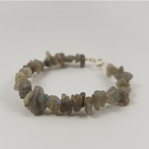 Labradorite & Sterling Silver Bracelet - Crystals - Gemstones - Magical Earth Bug