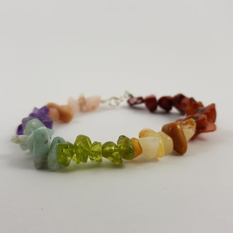 Rainbow Chakra Crystal Bracelet - Crystals - Gemstones - Magical Earth Bug