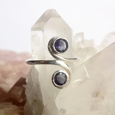 Iolite Sterling Silver Ring - Crystals - Gemstones - Magical Earth Bug