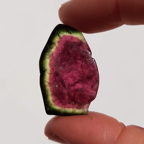 35ct Watermelon Tourmaline Slice!