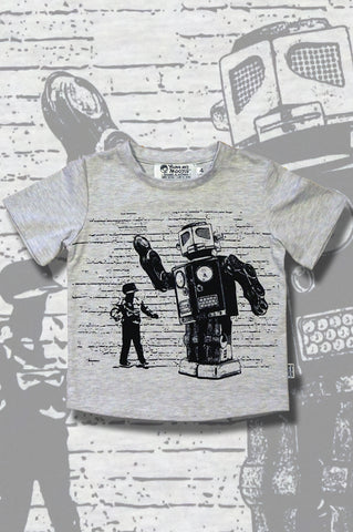 Robot Dance off t-shirt - Cool boys t-shirts online