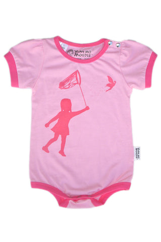 Baby Girls Bodysuits - Fairy Print - YoungandMoodie