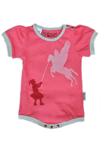 Baby Girls Bodysuits - Pegasus Design - YoungandMoodie
