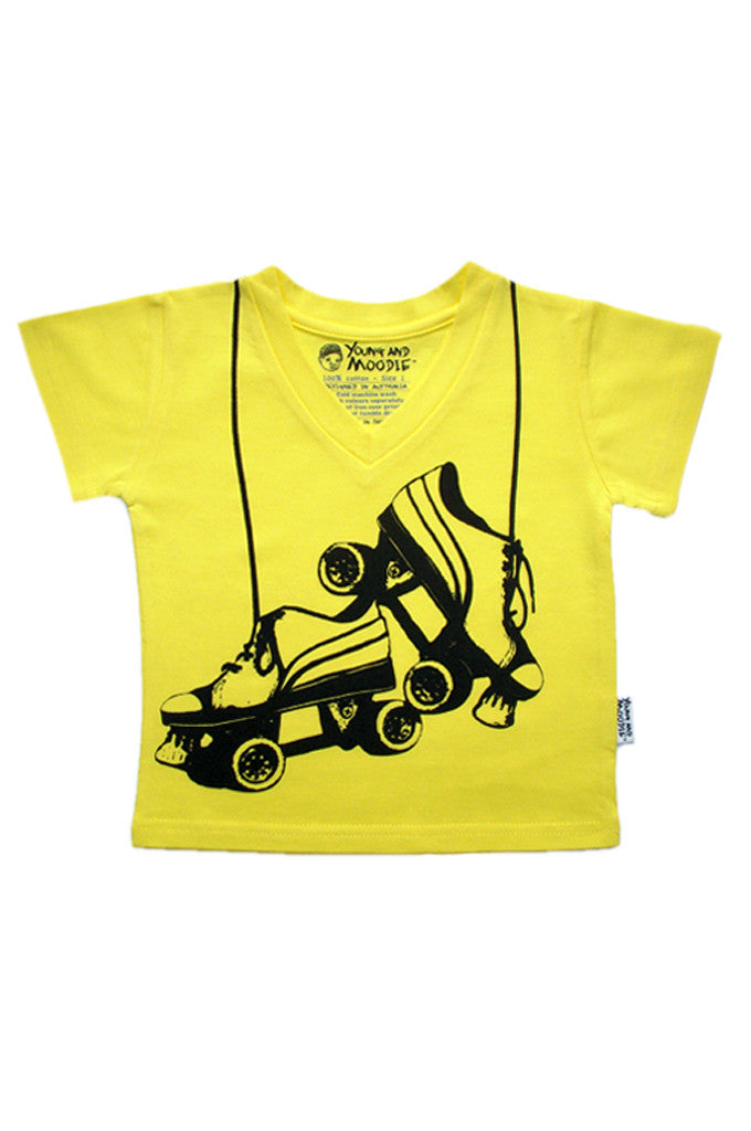 Baby Girls Roller Derby T-shirt - YoungandMoodie