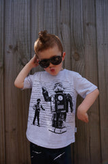 Boys Robot T-shirt - Dance Off - YoungandMoodie  - 2