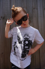 Boys Robot T-shirt - Dance Off - YoungandMoodie  - 5