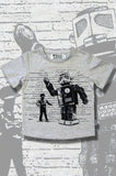 Boys Robot T-shirt - Dance Off - YoungandMoodie  - 1