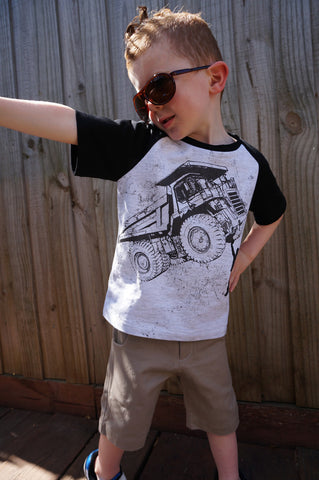 Boys Truck T-shirt - Tiny Tipper - YoungandMoodie  - 2