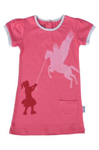 Girls Dresses - Pegasus Print - YoungandMoodie  - 1