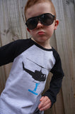 Boys Long Sleeve Top - Heliboarder Design - YoungandMoodie  - 2