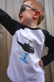Boys Long Sleeve Top - Heliboarder Design - YoungandMoodie  - 3