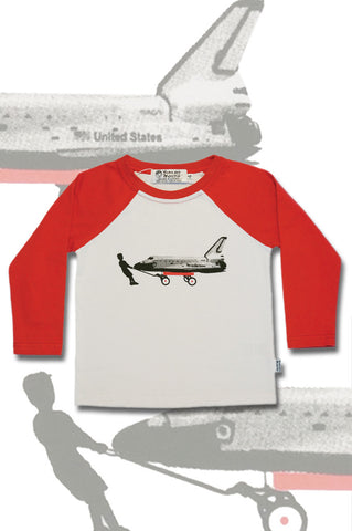 Boys Long Sleeve Top - Shuttle Design - YoungandMoodie  - 1