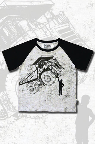 Boys Truck T-shirt - Tiny Tipper - YoungandMoodie  - 1