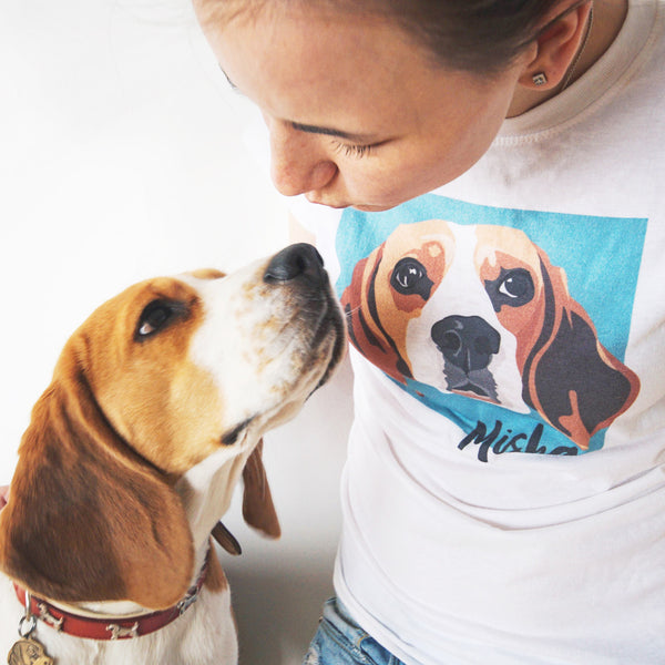 Girls custom pet t-shirt - Barley and Bayley
