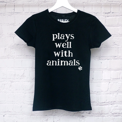 Plays Well With Animals ladies tee