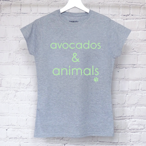 Avocados & Animals ladies tee