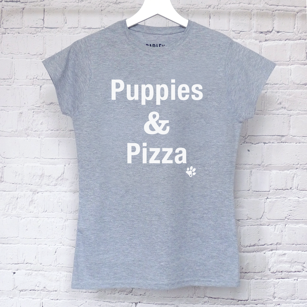 Puppies & Pizza ladies tee