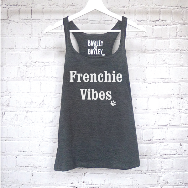 Frenchie Vibes ladies tank top