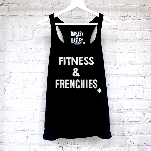 Fitness & Frenchies ladies tank top