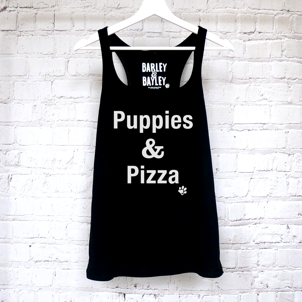 Puppies & Pizza tank top