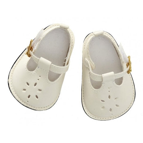 Astrup - Doll Shoes - Cream - 40-45cm (Cuddle Dolls etc) - August Lane