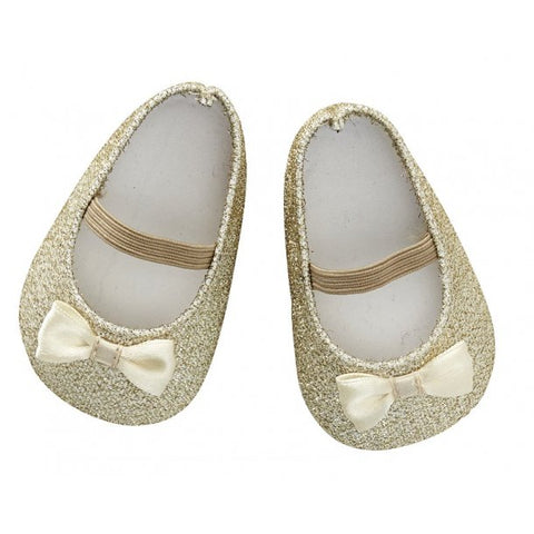 Astrup - Doll Shoes - Gold Glitter - 40-45cm (Cuddle Dolls etc) - August Lane