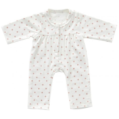 Astrup - Doll Onesie - Rose Dots - 40-45cm (Cuddle Dolls etc) - August Lane