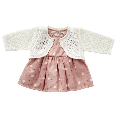 Astrup - Doll Dress & Cardigan Set - 40-45cm (Cuddle Dolls etc) - August Lane