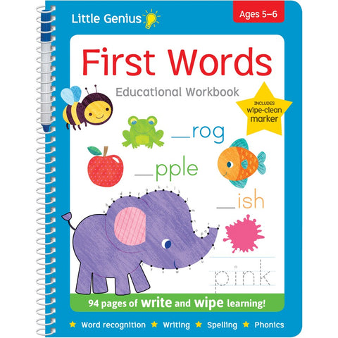 Little Genius - Wipe & Write - First Words - August Lane