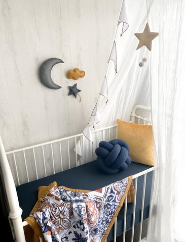 Pop Ya Tot - Reversible Muslin Cot Quilt - Tori's Tile - August Lane