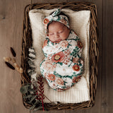 Snuggle Hunny - Snuggle Swaddle & Top Knot Set - Florence - August Lane